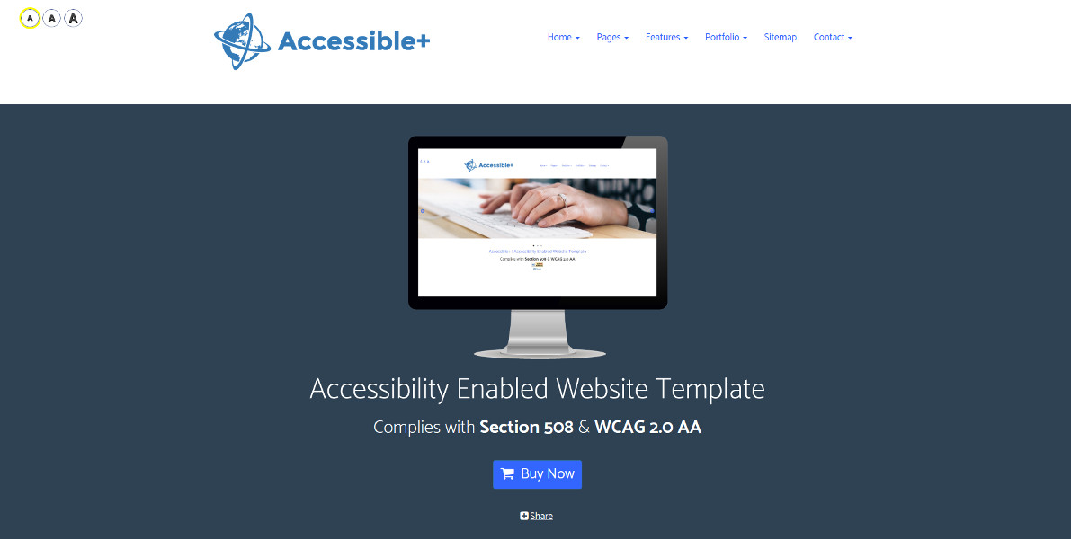 Accessible+ | Website Template - Home